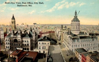 Baltimore Post Office Bird's Eye View