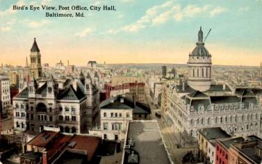 Baltimore Post Office Bird's Eye View