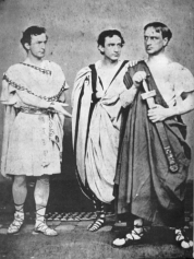John Wilkes, Edwin, and Junius Brutus Booth in Shakespeare's Julius Caesar (1864)