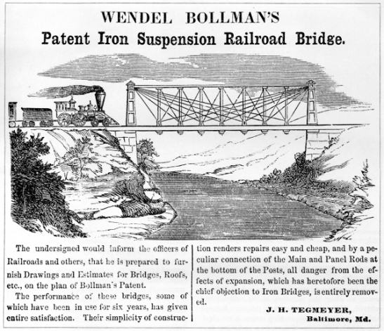 Advertisment_Bollman_Comapny Railroad Advocate Ag 1855