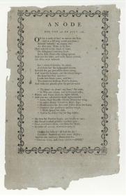 Hopkinson An Ode