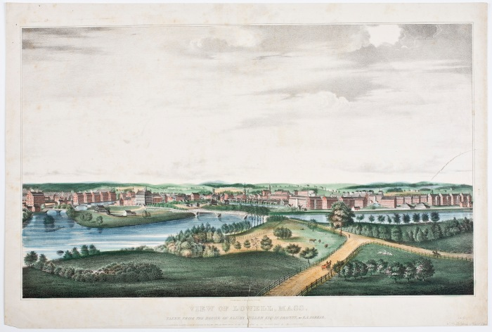 View of Lowell, Mass. By E.A. Farrar, Pendelton's Lithography