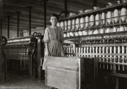 A little spinner in the Mollahan Mills, Newberry, SC. Photo by Lewis Hine.