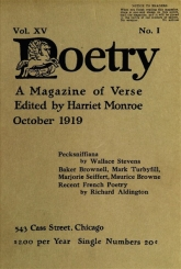 Poetry Oct 1919